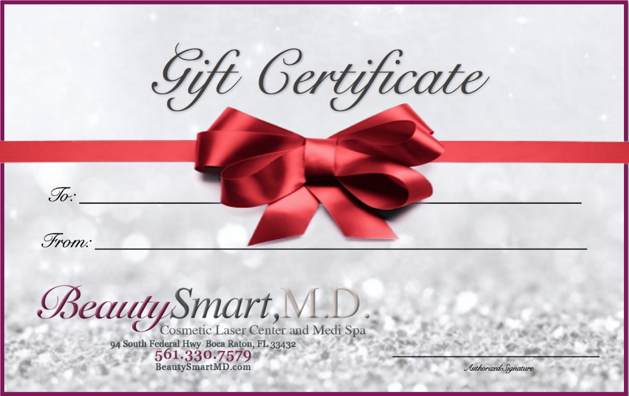 Happy Holidays Gift Certificates On Sale Laser Hair Removal Full